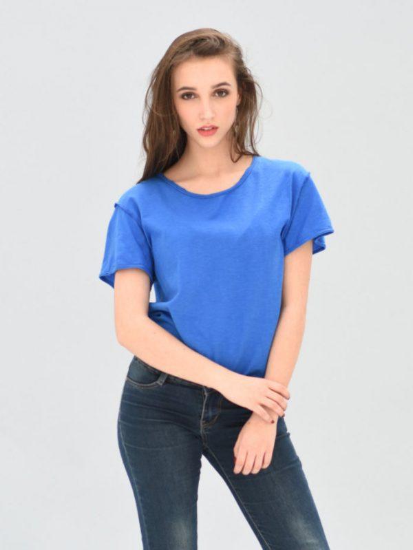 blue t-shirt-streetwear unisex