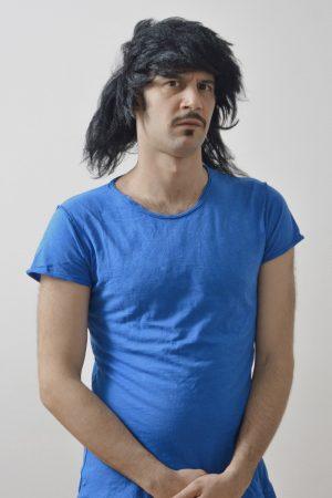 Blue t-shirt bohemian style