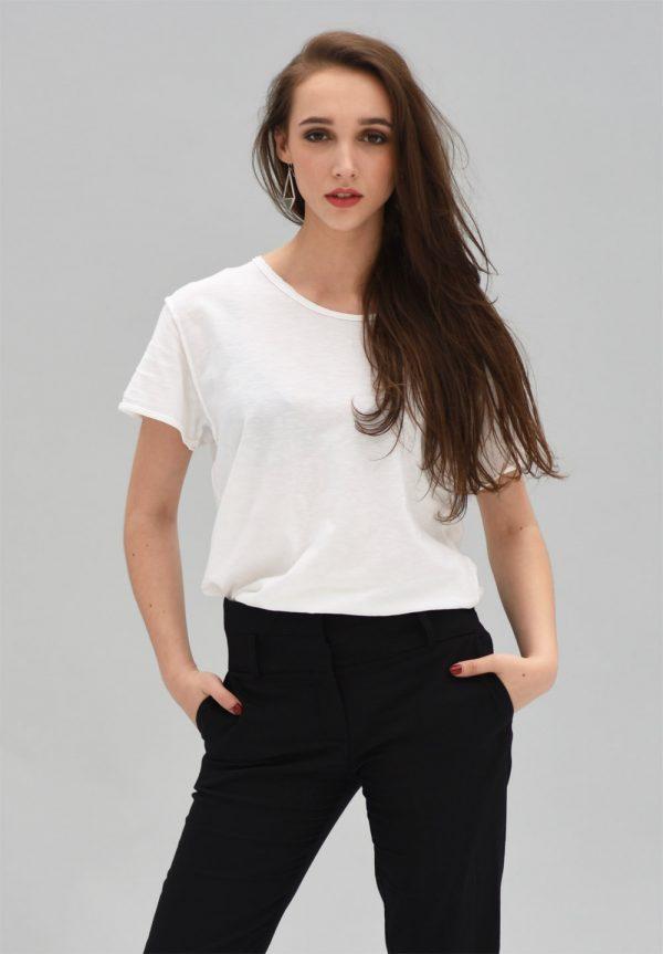 White t-shirt minimal unisex E-nigma