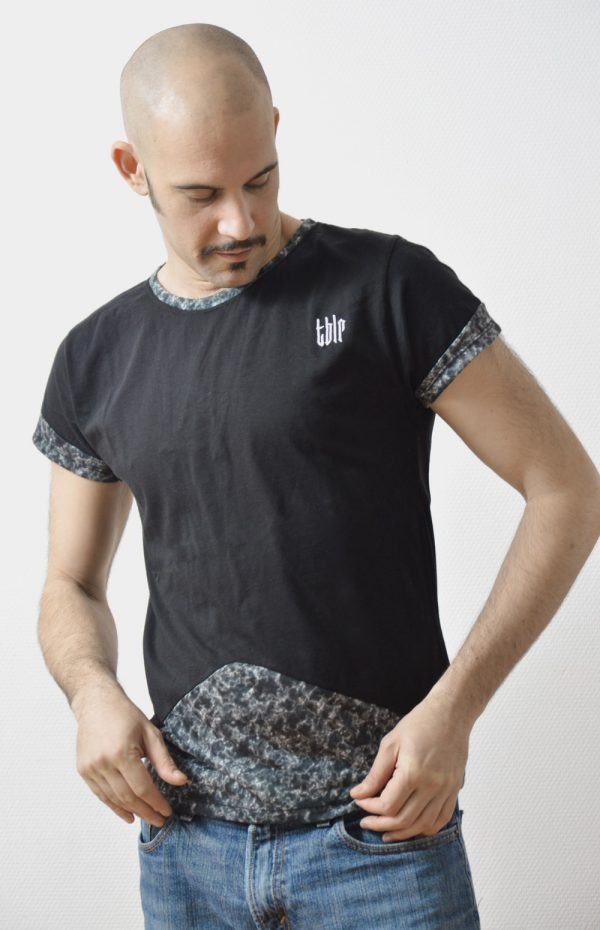 streetwear black t-shirt for man