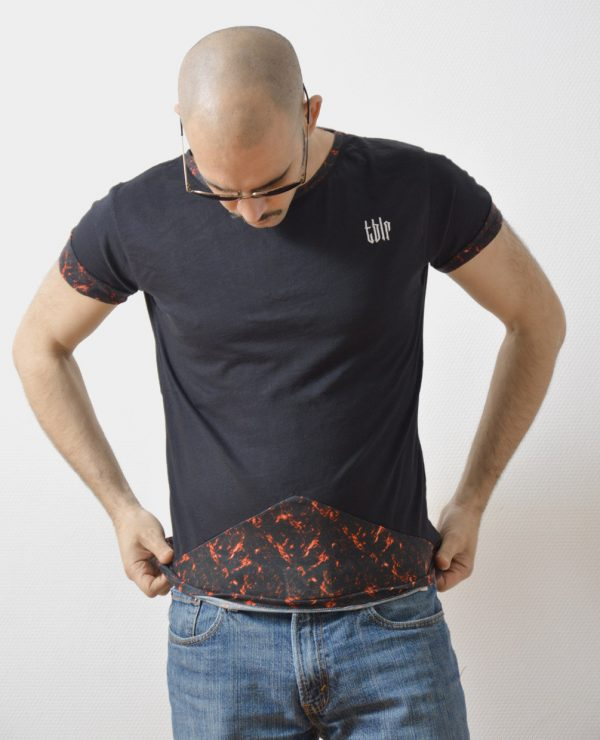 streetwear man tee black