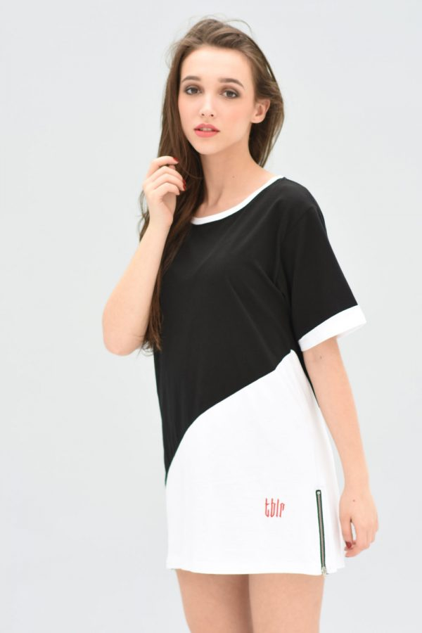 unisex streetwear long zipped t-shirt unisex